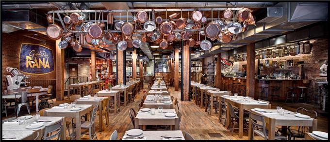 工业风室内设计餐饮展板